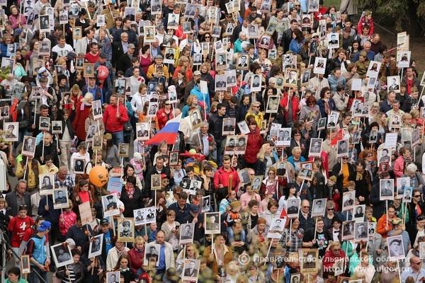 «Бессмертный полк» в столице России установил рекорд, собрав 800 тыс. человек
