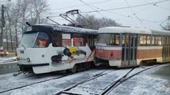 В Ульяновске столкнулись два трамвая (фото)