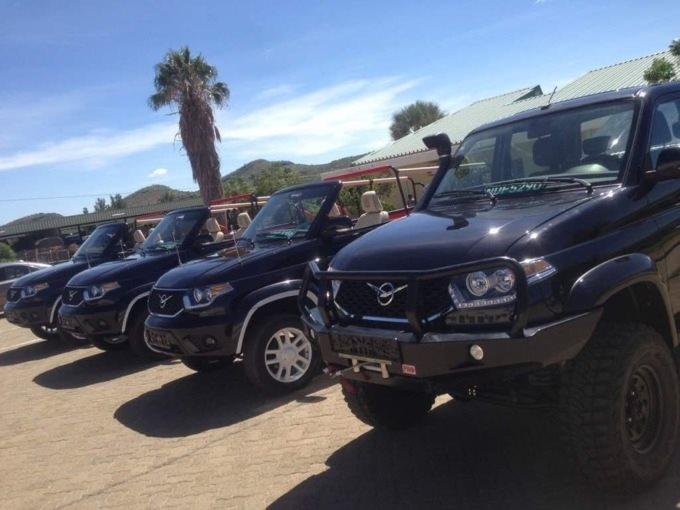 Президент Намибии показал собственный кабриолет UAZ Патриот