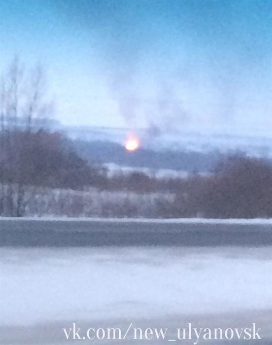 Под Ульяновском произошел пожар намельнице