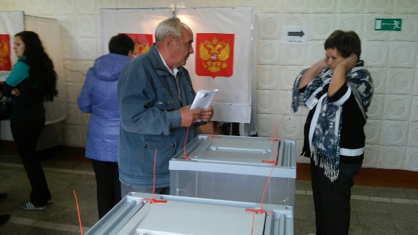 ВУльяновской области ктрём часам дня проголосовало около 35 процентов населения