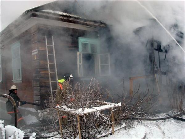 ВЧердаклинском районе чуть несгорел дом