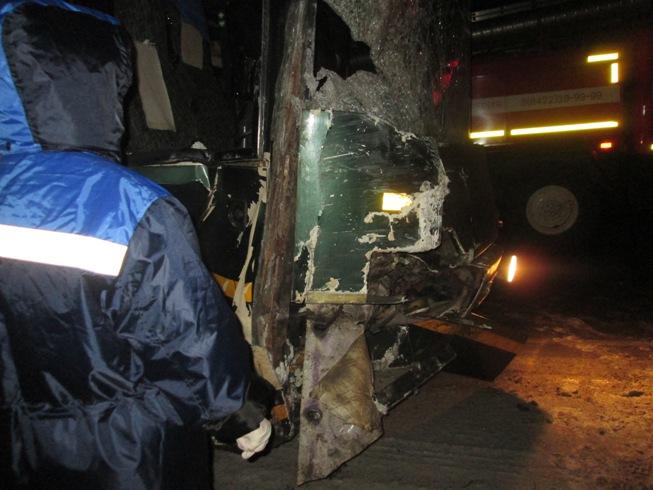 ВУльяновской области автобус, который направлялся вОренбург, попал вДТП